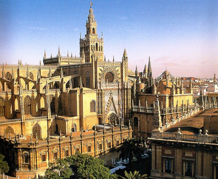 Cathedral and royal alcazar Seville
