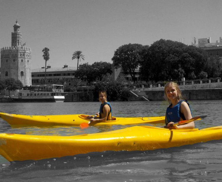 Kayak en el Guadalquivir