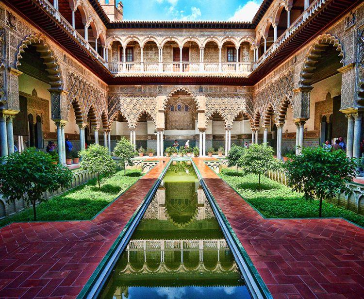 Tour guidé dans L´Alcazar de Séville  + Cathédrale & Giralda de Séville