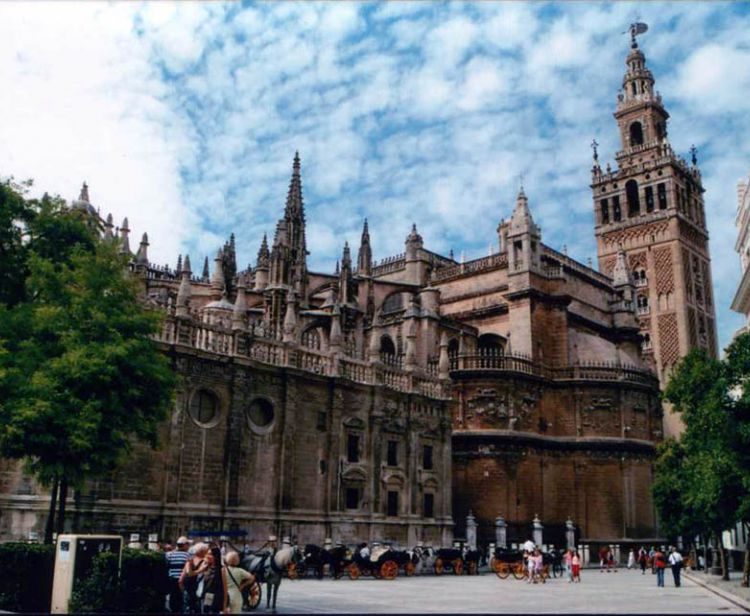 Jewish quarter and cathedral Seville