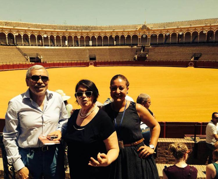 Triana and bullfight ring Seville