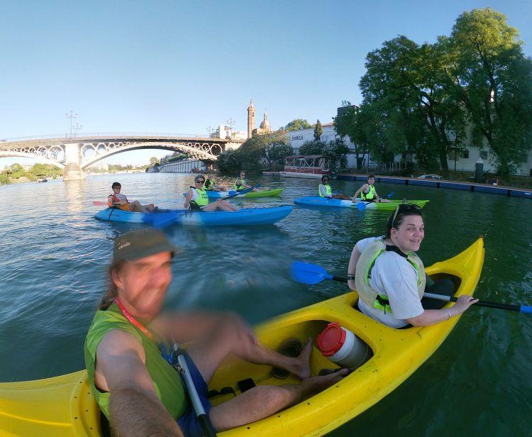 Kayak on the Guadalquivir
