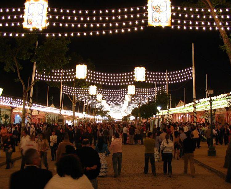Night Tour Feria de Abril di Siviglia