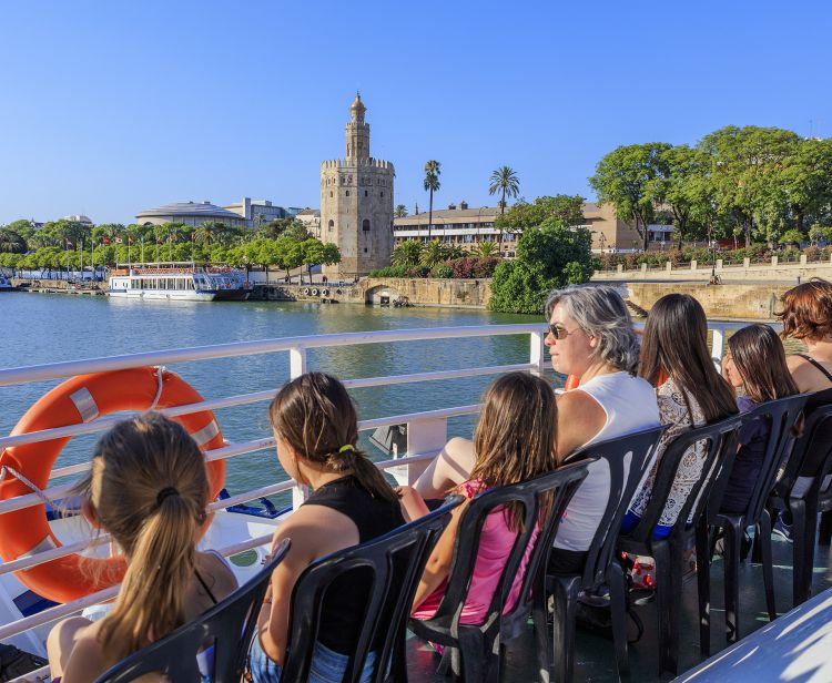 Giro in battello sul fiume Guadalquivir Siviglia