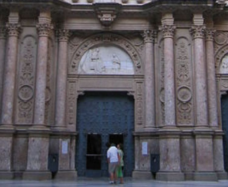 Monastery of Montserrat with transport